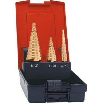 Sada stupňovitých vrtáků HSS TiN 4-12/4-20/6-30mm FORMAT