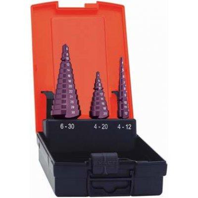 Sada stupňovitých vrtáků HSS TiALN 4-12/4-20/6-30mm FORMAT