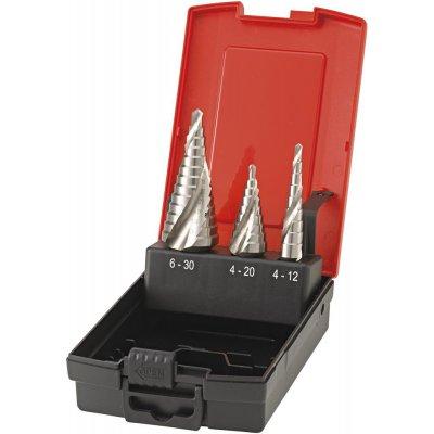 Sada stupňovitých vrtáků, stopka 6hran Universal HSS 4-12/4-20/6-30mm FORMAT