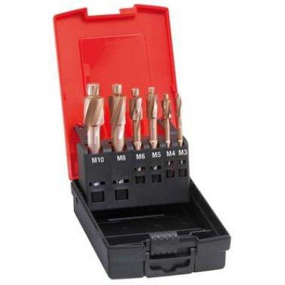 Sada zarovnávacích záhlubníků otvor na závity DIN373 M3-M10 FORMAT