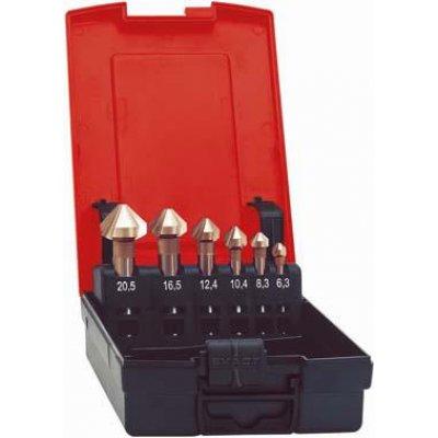 Sada kuželových záhlubníků DIN335 HSS tvar C 90° 6,3-25mm FORMAT