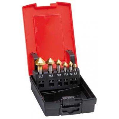 Sada kuželových záhlubníků TiN tvar C 90° 6,3-20,5mm FORMAT