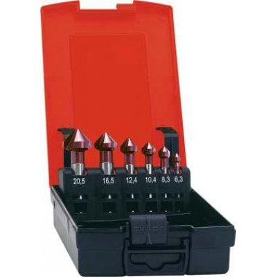 Sada kuželových záhlubníků TiAlN tvar C 90° 6,3-20,5mm FORMAT