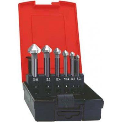 Sada kuželových záhlubníků, dlouhých HSS 90° 6,3-20,5mm FORMAT