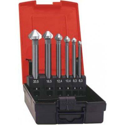 Sada kuželových záhlubníků, extra dlouhých HSS 90° 6,3-20,5mm FORMAT