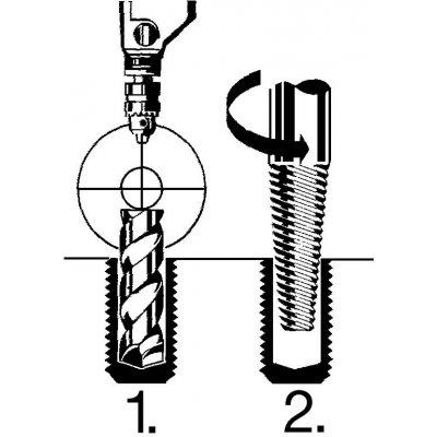 Vrták HSS, kónický, analogový úhel stoupání a samostatně centrovací stopka 6-hran 7,5x80mm schröder - pre200816.jpg