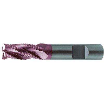 Hrubovací fréza dlouhá DIN6527 tvrdokov TiALN typ HR stopka HB 10mm FORMAT