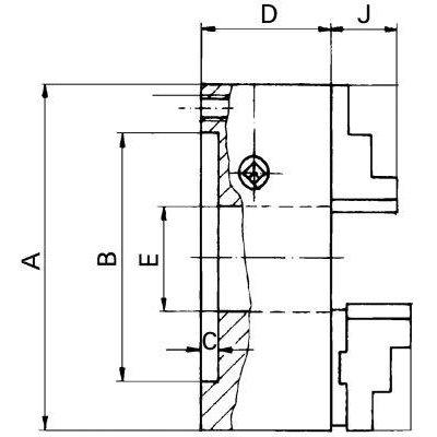 Tříčelisťové soustružnické sklíčidlo DIN6350 litina 160/ 4 FORMAT