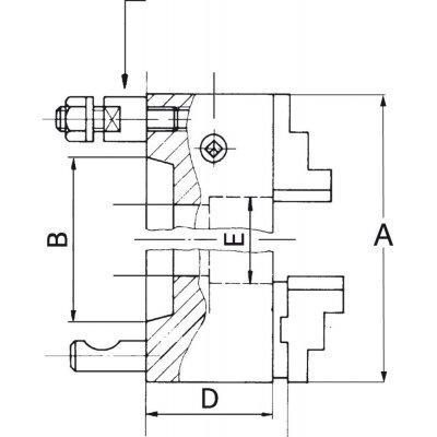 Tříčelisťové soustružnické sklíčidlo DIN55027 ocel 160mm KK 4 FORMAT - pre201344.jpg
