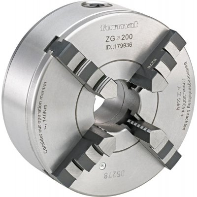 Čtyřčelisťové soustružnické sklíčidlo DIN6350 litina 160mm FORMAT
