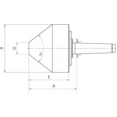 Centrovací kužel unášený 618-75 rozměr 172A MK3 RÖHM - pre214802.jpg