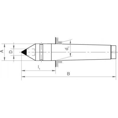 Centrovací hrot pevný DIN806 MK 2 vložka tvrdokov FORMAT - pre214812.jpg