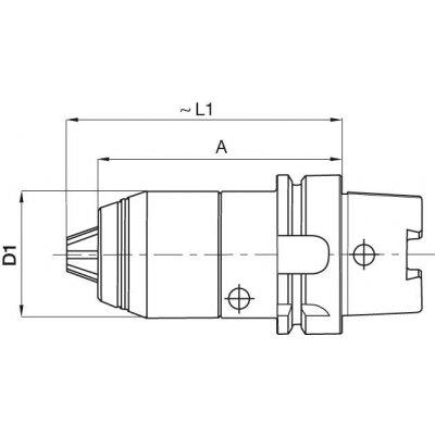 Krátké sklíčidlo na vrtáky CNC DIN69893 vnitřní chlazení 1-16mm HSK 63 FORMAT
