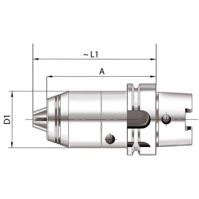 Krátké sklíčidlo na vrtáky CNC DIN69893 vnitřní chlazení 1-16mm HSK 63 FORMAT - pre220955.jpg
