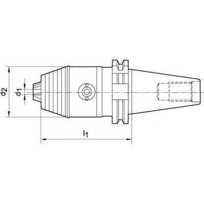Krátké sklíčidlo DIN69871 A R/L 0,3-8 SK40 WTE - pre216650.jpg