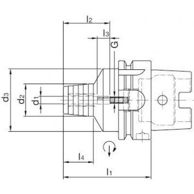 Hydraulické sklíčidlo DIN69893A HSK-A63 16x90mm WTE