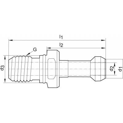 Utahovací čep JISB6339 BT40 90° vnitřní chlazení FORMAT