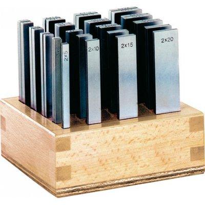 Sada paralelní podložky P délka 100mm + dřevěný stojan FORMAT