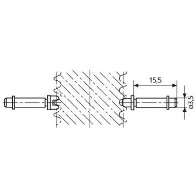 Vložka pro závitový mikrometr, kužel P0,4mm MAHR