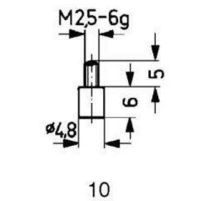 Měřicí snímač ocel typ 10/ 4.8mm KÄFER