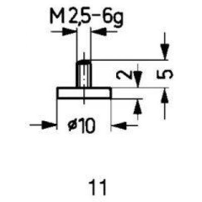 Měřicí snímač ocel typ 11/10,0mm KÄFER