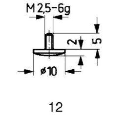 Měřicí snímač ocel typ 12/10,0mm KÄFER
