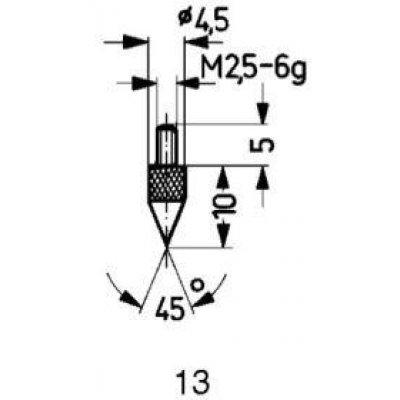 Měřicí snímač ocel typ 13/45° KÄFER