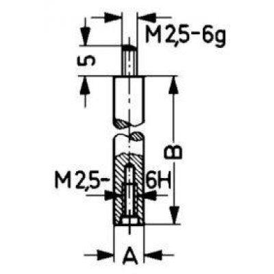 Nástavec pro měřicí snímač 10mm KÄFER