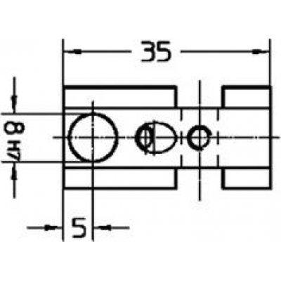 Držák na snímač, krátký 35mm Helios-Preisser