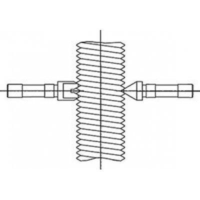 Závitové měřicí vložky (pár) na stoupání metrických vnějších závitů: 0,4-0,45mm Helios-Preisser