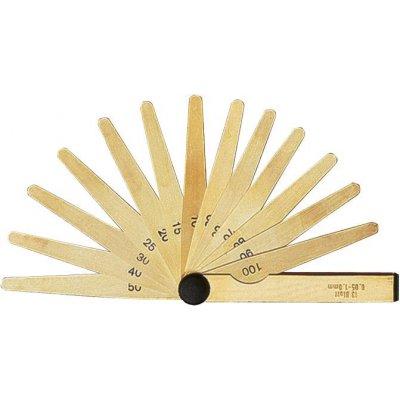 Přesná spárová měrka 20 listů 0,05-1mm mosaz FORMAT