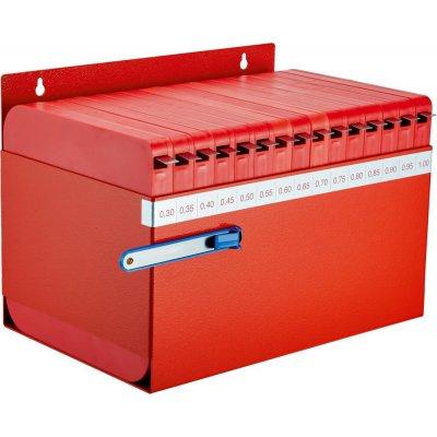 Spárová měrka v pásu 0,3-1mm dílenský box FORMAT