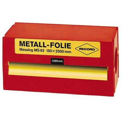 Kovová fólie ocel nelegovaná 150x2500x0,400mm RECORD