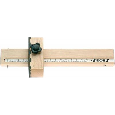 Stírací měrka potažená guajakovým dřevem E.C.E
