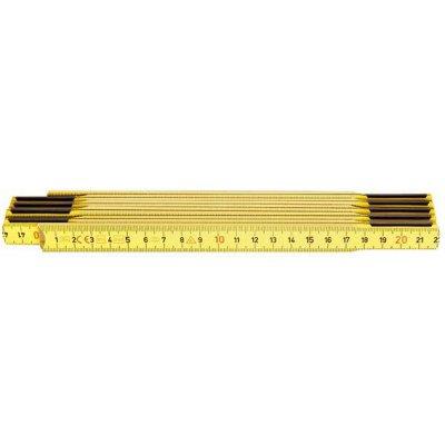Skládací metr dřevěný žlutý 2mx17mm HULTAFORS