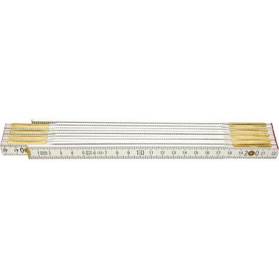Skládací metr dřevěný bílý 2mx16mm