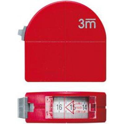 Kapesní svinovací metr včetně průhledu a kružítkové funkce 3mx16mm FORMAT