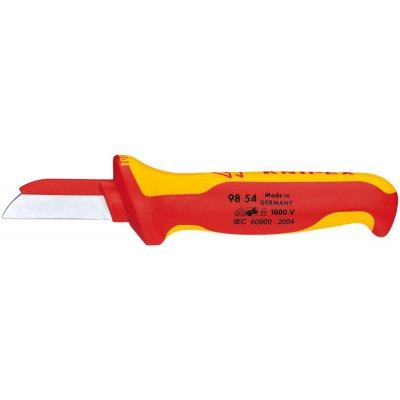 VDE nůž na kabely 180mm čepel 50mm tupá část čepele z plastu KNIPEX