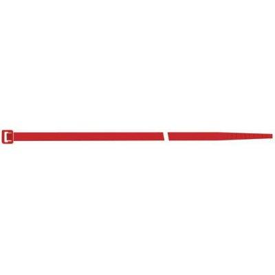 Vázací páska na kabely, nylon, červená 280x4,5mm po 100ks SapiSelco