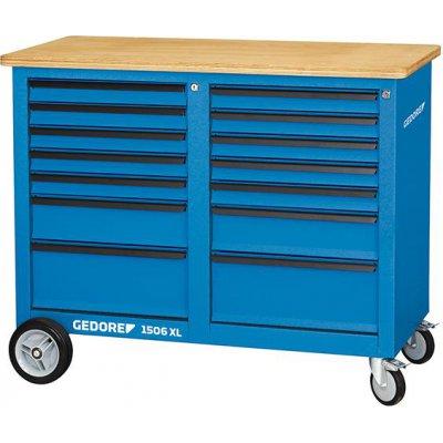 Pojízdný pracovní stůl, 14 zásuvek 1250x550x985mm GEDORE