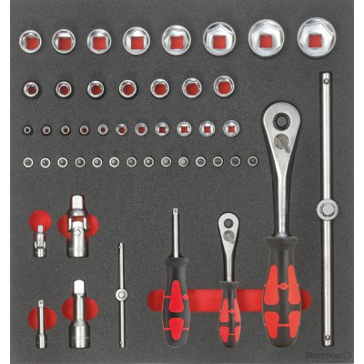 """Modul pro nástroje 2/3 Nástrčný klíč 1/4"""" a 1/2"""" FORMAT"""