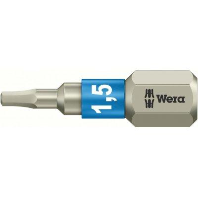 """Bit nerez 1/4"""" DIN3126C6,3 vnitřní 6-hran, 1,5x25mm Wera"""