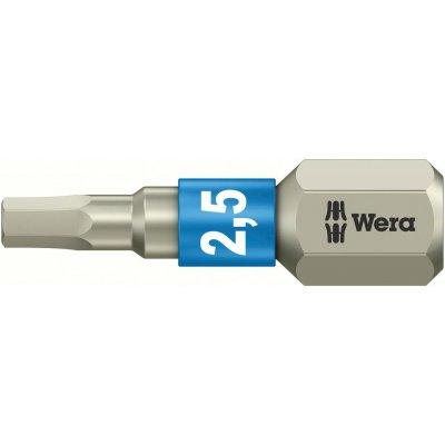 """Bit nerez 1/4"""" DIN3126C6,3 vnitřní 6-hran, 2,5x25mm Wera"""