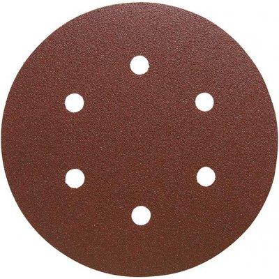 Brusný kotoučový výsek na suchý zip, na dřevo 150mm K180 6 otvorů FORMAT