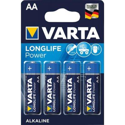 Baterie LONGLIFE Power AA 4 ks v blistr balení VARTA