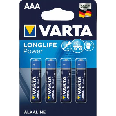 Batterie LONGLIFE Power AAA 4 ks v blistr balení VARTA