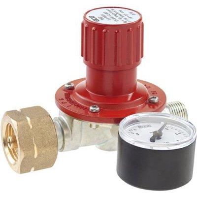 Regulátor pro propanové nádoby 5/11/33kg a manometr plyn 0,5-4bar GCE