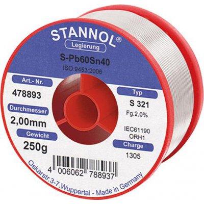 Pájecí drát 478893 250g O2mm Stannol