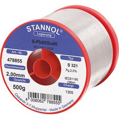 Pájecí drát 478855 500g O2mm Stannol
