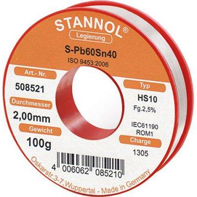 Pájecí drát pro rádiové moduly 508521 100g O2mm Stannol
